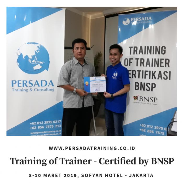 Pelatihan TOT Sertifikasi BNSP